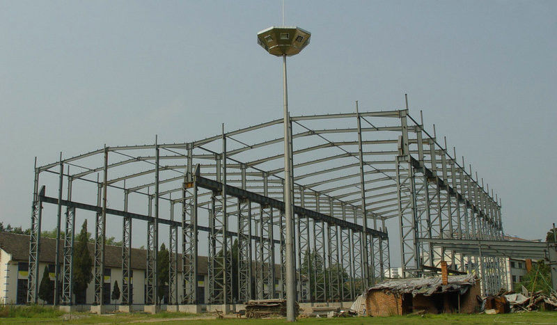 High Strength Steel Building Structures for Workshop, Airports, High - Rise Buildings