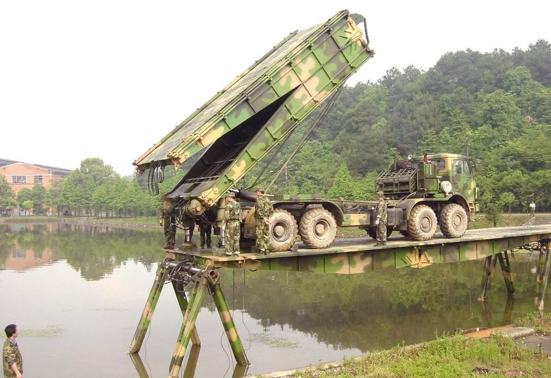 75m Length Heavy Mechanized / Emergency Bridges For Tanks, Artilleries and Vehicles